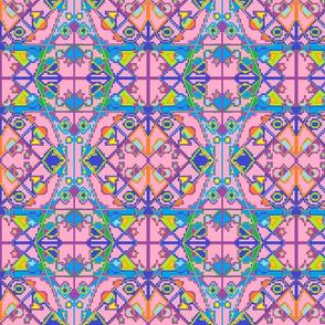 Multi-colored Moroccan Design