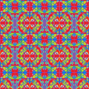 Red, Green, Blue and Purple Moroccon Design