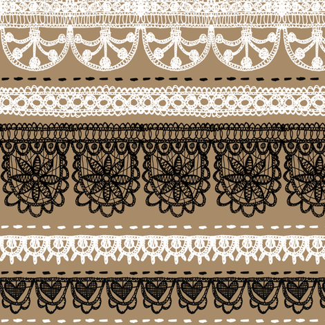 Brown Paper Wedding fabric by pinky_wittingslow on Spoonflower - custom fabric