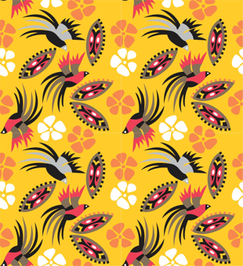 Birds_of_Paradise_gold fabric by malolo on Spoonflower - custom fabric