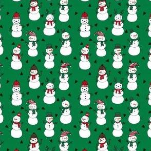 snowman // red and green christmas snowman fabric cute snowman design andrea lauren fabrics andrea lauren design xmas holiday fabrics for gifts and sewing