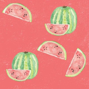 Pink Watercolour Watermelon