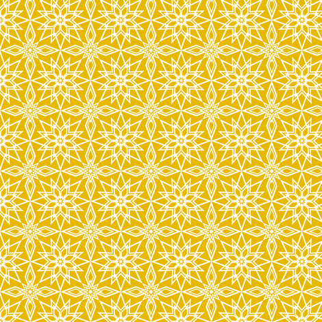Star Lace (Gold) fabric by jjtrends on Spoonflower - custom fabric