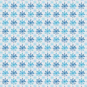 Frozen Blue Snowflakes