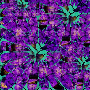 Summer Violets in Dark Purple