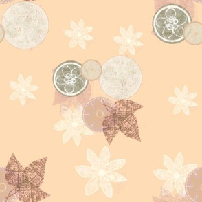 Basic Peaches & Cream Flowers & Leaves