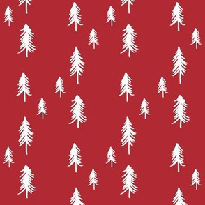 Oh Christmas Tree - deep red