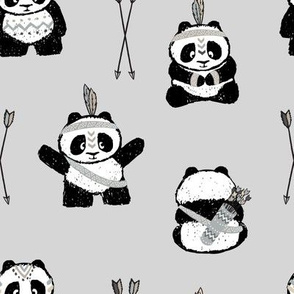 pandas w/ arrows (neutral) || pandamonium