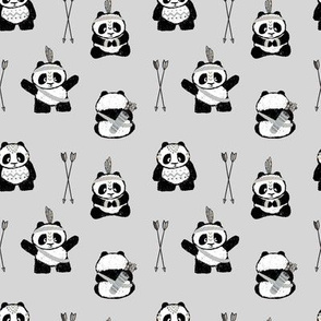 pandas w/ arrows (neutral) small scale  || pandamonium
