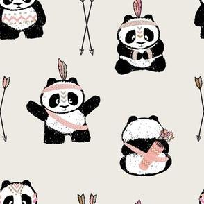 pandas w/ arrows (pink) || pandamonium