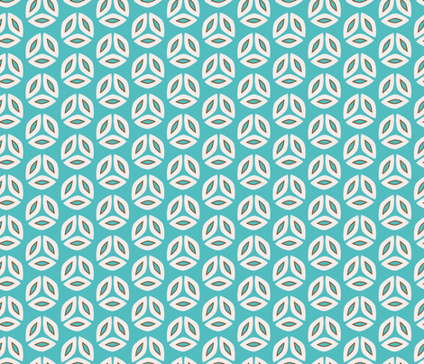 Floriental Marquise Teal fabric by kirstenkatz on Spoonflower - custom fabric