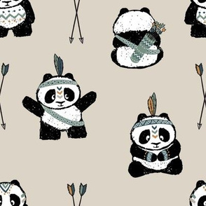 tribal pandas (green) || pandamonium