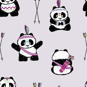 panda w/ arrows (purple) || pandamonium