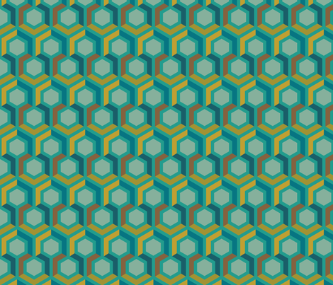 Hexagon Geometric fabric by mariafaithgarcia on Spoonflower - custom fabric