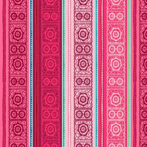 Upscaled Rose Lace Stripe