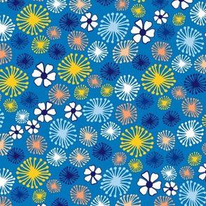 Ditsy Dandelion in Blue