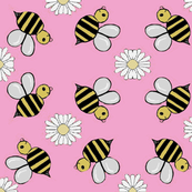 Bee-u-tiful bees pink