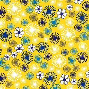 Ditsy Dandelions in Yellow