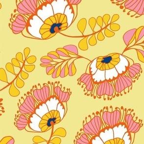 Jungle Blossoms Yellow & Pink