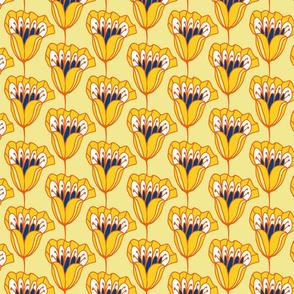 Fiore Stripe Yellow Large