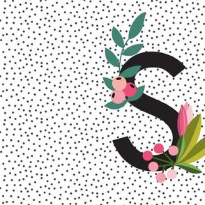 Garden Alphabet - Letter S