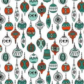 christmas ornaments // christmas ornament holiday xmas red and green holiday xmas fabric