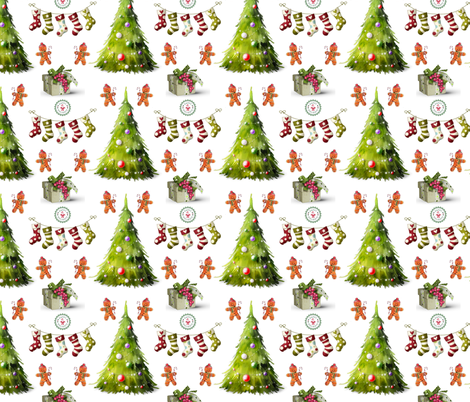 Oh Christmas Tree! fabric by floramoon on Spoonflower - custom fabric