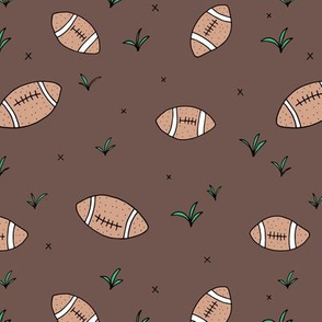 American Football fun sports illustration design grass brown