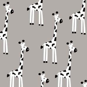 Adorable baby giraffe safari animals for kids winter gender neutral gray