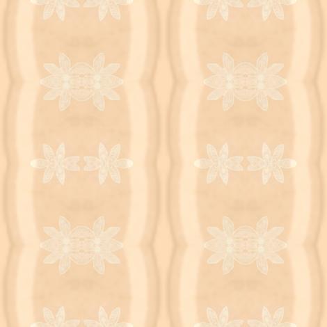 Daisy Chain Stripes on Peach fabric by gargoylesentry on Spoonflower - custom fabric