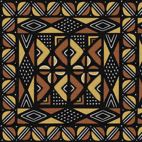 Mudcloth Medallion 1 fabric by eclectic_house on Spoonflower - custom fabric