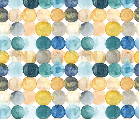 painted dots fabric by marjoleinrooijmans on Spoonflower - custom fabric