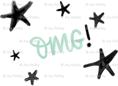 OMG! - Oh my Gosh! Stars with mint letters