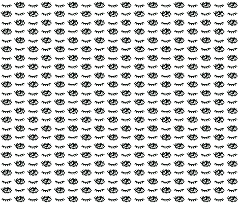 eyes open and closed fabric by marjoleinrooijmans on Spoonflower - custom fabric