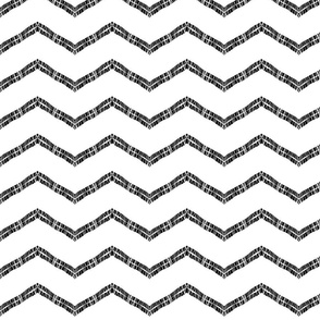 Black zig white zag  Threading - black on white