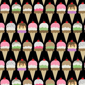ice cream  black interlock sm