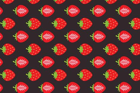 Strawberries For You fabric by heatherhightdesign on Spoonflower - custom fabric