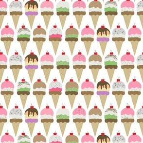 ice cream  white interlock small