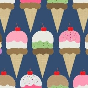 ice cream  dk  navy interlock