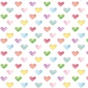 hearts in multi colors, like the rainbow