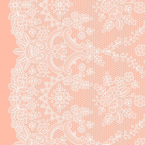 Lace with border