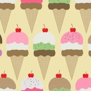 ice cream  soft  yellow interlock