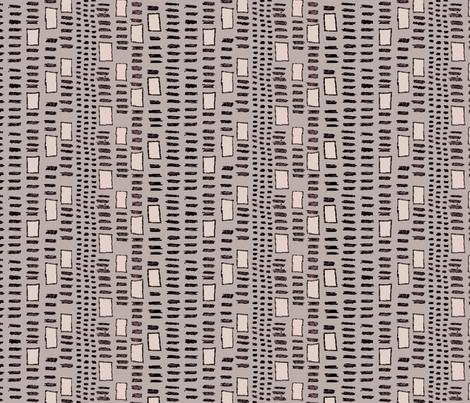 Mudcloth  Fletching Squares Dust fabric by bloomingwyldeiris on Spoonflower - custom fabric