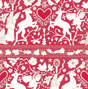 Antique Lace - cream on claret
