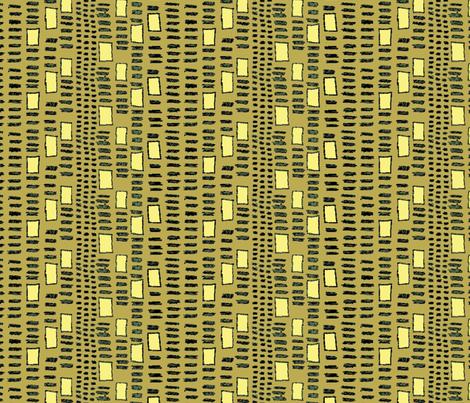 Mudcloth  Fletching Squares Ochre fabric by bloomingwyldeiris on Spoonflower - custom fabric