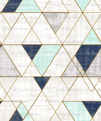 Mod Triangles Vintage Navy Mint