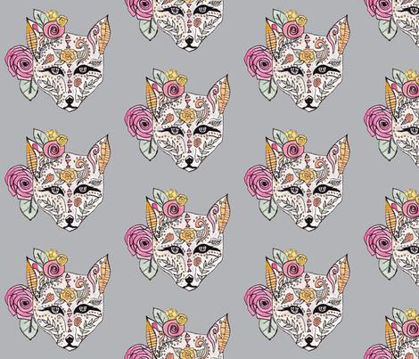Boho Fox fabric by alchemyhome on Spoonflower - custom fabric