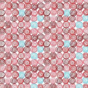 Doodle Swirls Red