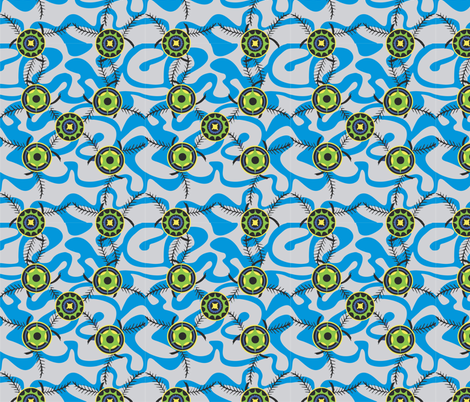 Fronds_light_blue fabric by malolo on Spoonflower - custom fabric