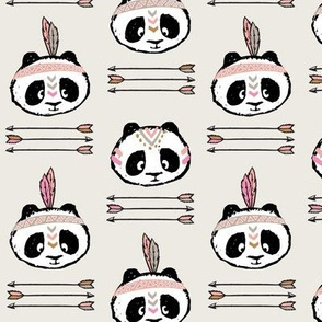 panda w/ arrow stack (pink)